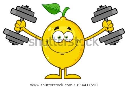 barátságos · gyümölcs · csoport · vicces · természet · alma - stock fotó © hittoon
