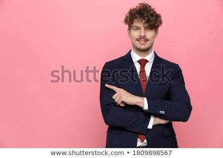 portret · zakenman · gevouwen · handen · moderne - stockfoto © feedough
