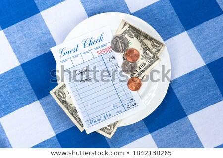 Projeto de lei mudar pires dinheiro tabela financiar Foto stock © IS2