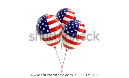 Nap amerikai zászló léggömbök terv hazafias piros Stock fotó © Krisdog
