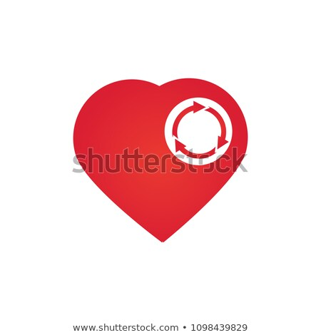 coeur · trois · cercle · recycler · isolé - photo stock © kyryloff