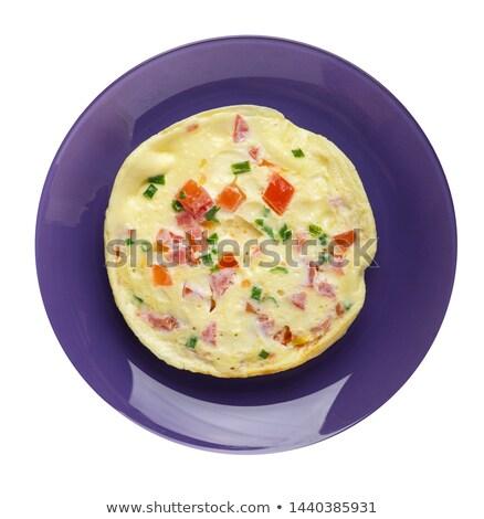 An Omelet on White Background Stock photo © bluering