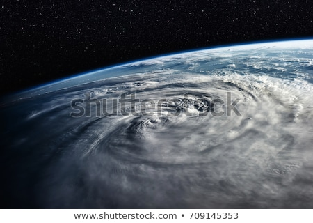 Typhoon over planet Earth - satellite photo. Elements of this image furnished by NASA. Stock photo © NASA_images