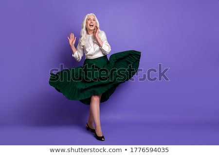 Purple clothes grandmother_relax Stock photo © toyotoyo