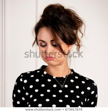 csinos · fiatal · tanár · néz · karok · lány - stock fotó © traimak