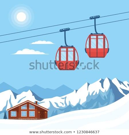 gondola lift on ski resort at sun winter day stock photo © bsani
