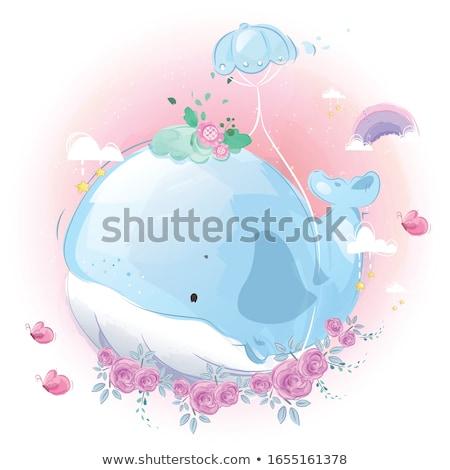 álmodik kicsi sündisznó rajz illusztráció boldog Stock fotó © cthoman