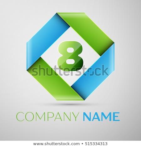 número · oito · logotipo · verde · vetor · ícone - foto stock © cidepix