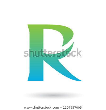 зеленый синий градиент хвост вектора иллюстрация Сток-фото © cidepix