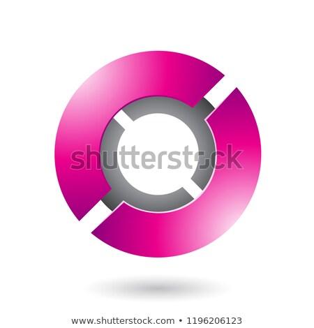 Magenta Thick Futuristic Round Disk Vector Illustration Stock photo © cidepix
