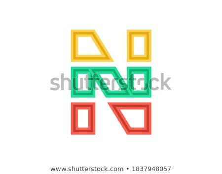 Red Sliced Letter N Vector Illustration Stock photo © cidepix