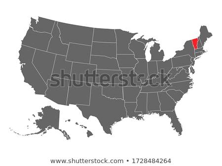 Vermont mapa ícone vetor modelo negócio Foto stock © kyryloff