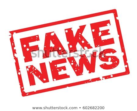 偽 スタンプ 新聞 表示 赤 手紙 ストックフォト © AndreyPopov