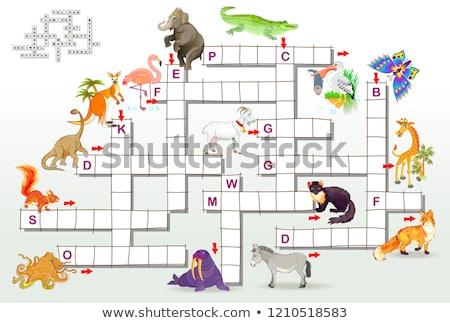 Oyuncaklar bulmaca oyun şablon örnek sanat Stok fotoğraf © bluering
