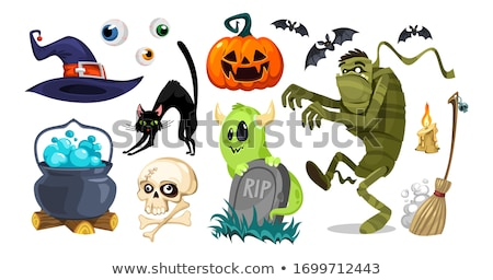 Creepy Monster Halloween Pumpkin Stock photo © Lightsource