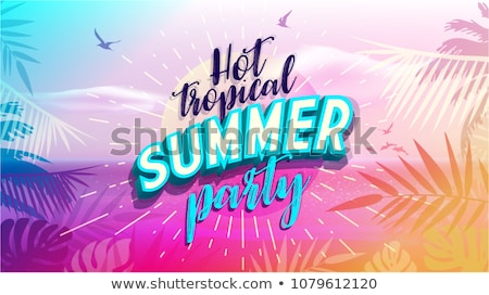 Summer Party Days Tropical Promotional Posters Set Stock photo © robuart
