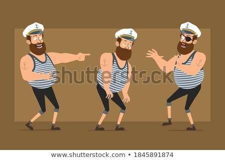 sad cartoon sea captain stock photo © cthoman
