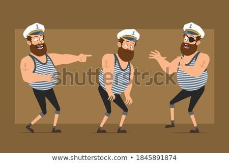 sad cartoon sea captain stock photo © cthoman
