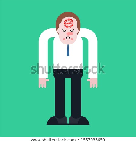loser stamp on forehead unlucky man sad guy stock photo © maryvalery