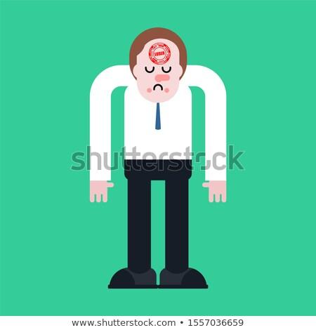homem · ilustração · rua · zangado · andar - foto stock © maryvalery