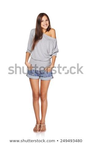 Leggy young woman Stock photo © acidgrey