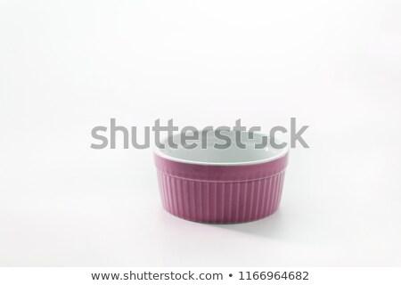 Porcellana piatto isolato bianco alimentare verde Foto d'archivio © TanaCh