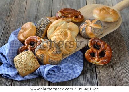 Brood zoute krakelingen dienblad bakkerij wachten Stockfoto © Kzenon