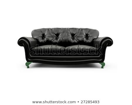3D · sofá · isolado · branco · casa · relaxar - foto stock © konradbak