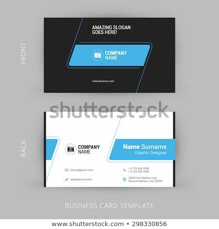elegant dark blue business card template Stock photo © SArts