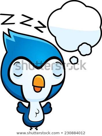 Rajz baba kék álmodik illusztráció csirke Stock fotó © cthoman
