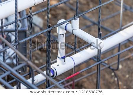 Yeni pvc su tesisatı borular çelik yapılandırma Stok fotoğraf © feverpitch