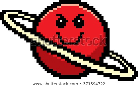 Stock photo: Evil 8-Bit Cartoon Planet