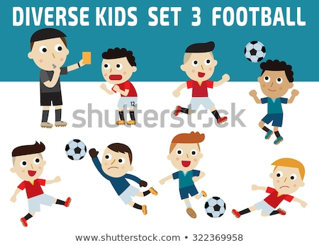 Multi Ethnic Group of Kids Playing Soccer Illustration Stock photo © artisticco