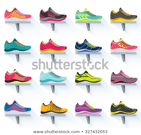 Fitness sneakers shoes for training running shoe. Sport shoes set Stock photo © MarySan