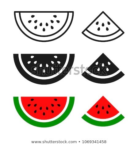 Sandía icono vector sabroso frutas frescos Foto stock © pikepicture