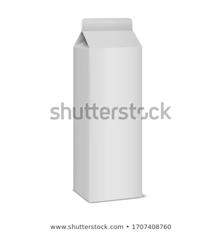 Milk Carton Package and Bottle Vector Illustration Stock photo © robuart