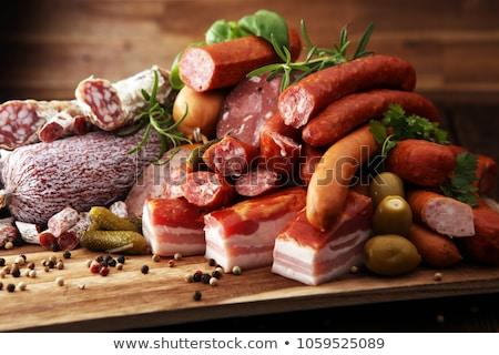saboroso · sanduíches · presunto · queijo · alface · tomates - foto stock © tycoon