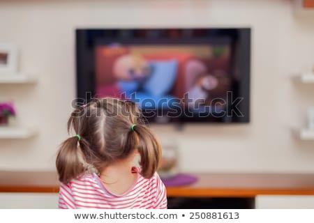 3D · небольшой · люди · телевизор · человек - Сток-фото © lopolo