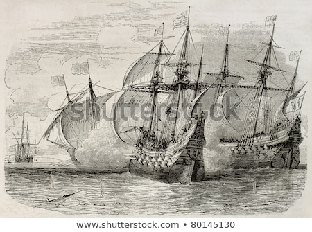 antique ships cannon stock photo © paulfleet
