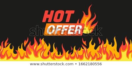 O melhor oferecer quente venda distintivo promo Foto stock © robuart