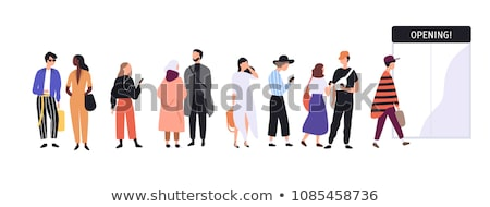 Teenagers Male and Female Vector Illustration Stock photo © robuart