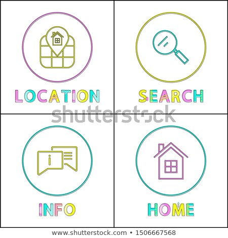 Object Location Information Retrieval Icons Set Stock photo © robuart