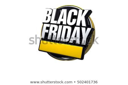 черная пятница 3d текста белый черный изолированный 3d иллюстрации Сток-фото © make