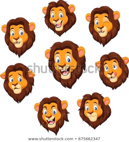 Cartoon triest leeuw welp illustratie jongen Stockfoto © cthoman