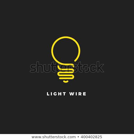 Ampul ışıklar logo ikon siyah simge Stok fotoğraf © blaskorizov