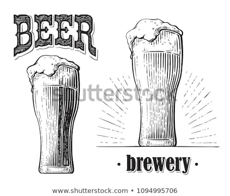 Glass Filled with Beer Sketch Vector Illustration Stock photo © robuart