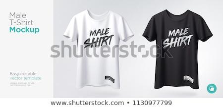 Szett színes sport pólók izolált fehér Stock fotó © kup1984