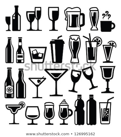 Whisky glas fles vector icon label Stockfoto © blaskorizov