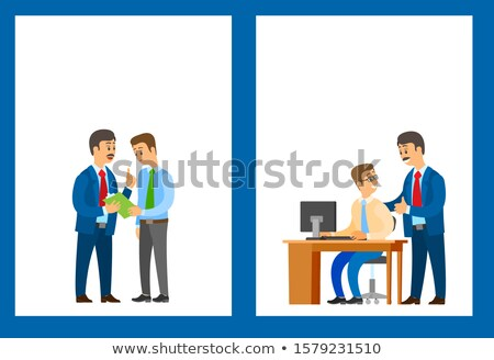 Work Task and Good Job, Company Leader Supervising Stock photo © robuart