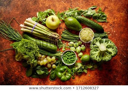 Fraîches vert légumes fruits assortiment rouillée Photo stock © dash